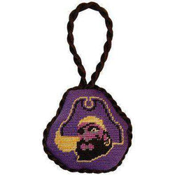 Ornaments - East Carolina University Needlepoint Christmas Ornament In Purple By Smathers & Branson
