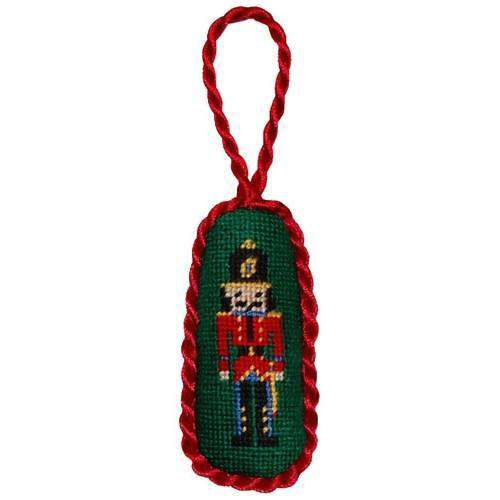 Ornaments - Nutcracker Needlepoint Christmas Ornament In Green By Smathers & Branson