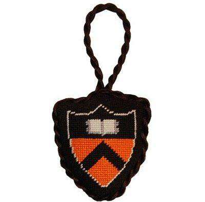 Princeton University Needlepoint Christmas Ornament in Black by Smathers & Branson