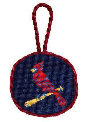 Ornaments - St. Louis Cardinals Needlepoint Christmas Ornament In Navy Blue By Smathers & Branson
