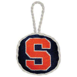ornaments syracuse needlepoint christmas ornament in navy by smathers branson