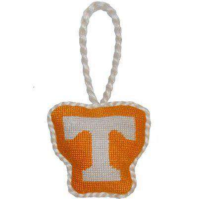 Ornaments - Tennessee Needlepoint Christmas Ornament In Orange By Smathers & Branson