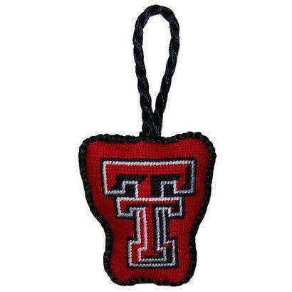 Ornaments - Texas Tech Needlepoint Christmas Ornament In Red By Smathers & Branson