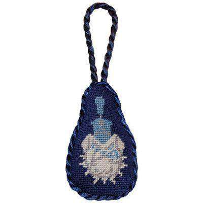 Ornaments - The Citadel Needlepoint Christmas Ornament In Navy By Smathers & Branson