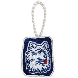 Ornaments - University Of Connecticut Needlepoint Christmas Ornament In Navy By Smathers & Branson