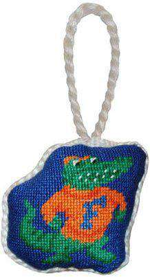 Ornaments - University Of Florida Needlepoint Christmas Ornament In Blue By Smathers & Branson