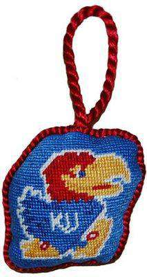 Ornaments - University Of Kansas Needlepoint Christmas Ornament In Blue By Smathers & Branson