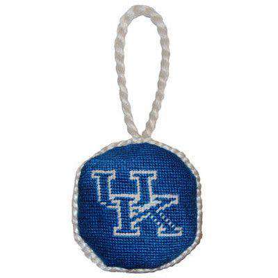 Ornaments - University Of Kentucky Needlepoint Christmas Ornament In Blue By Smathers & Branson