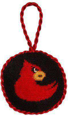 University of Louisville Needlepoint Christmas Ornament in Black by Smathers & Branson