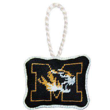 Ornaments - University Of Missouri Needlepoint Christmas Ornament In Black By Smathers & Branson