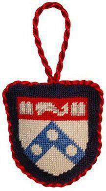 Ornaments - University Of Pennsylvania Needlepoint Christmas Ornament In Navy By Smathers & Branson