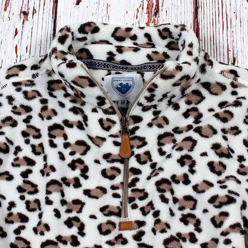 Nordic Fleece Oslo Leopard Fleece Pullover by Nordic Fleece