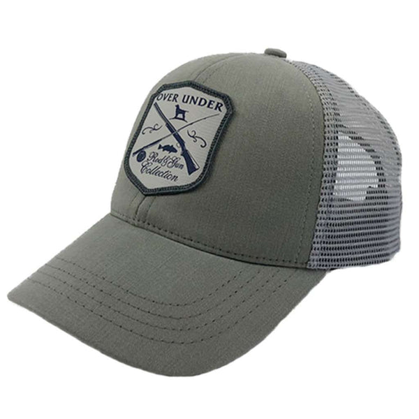 Over Under Clothing Rod & Gun Mesh Back Hat in Grey