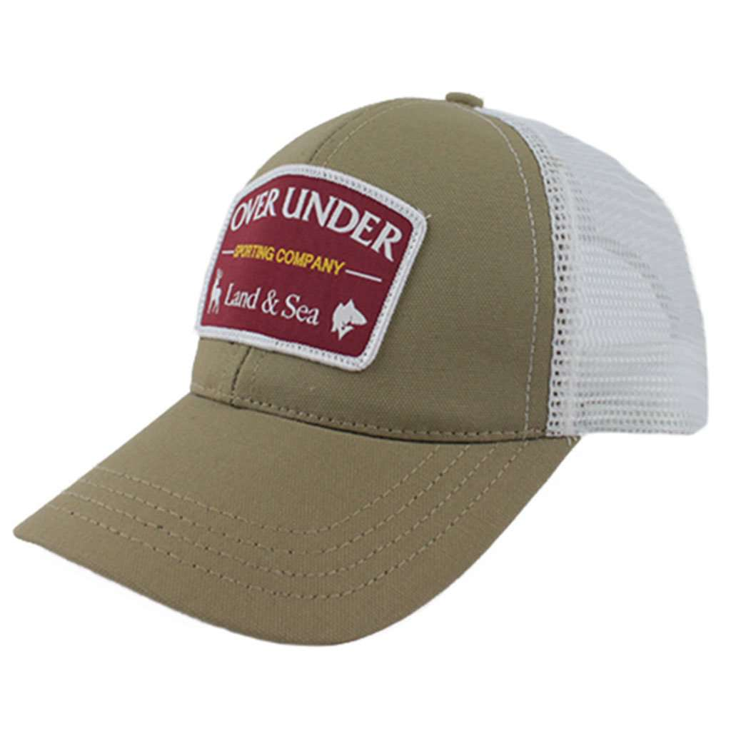 Over Under Clothing Sporting Company Mesh Back Hat in Khaki