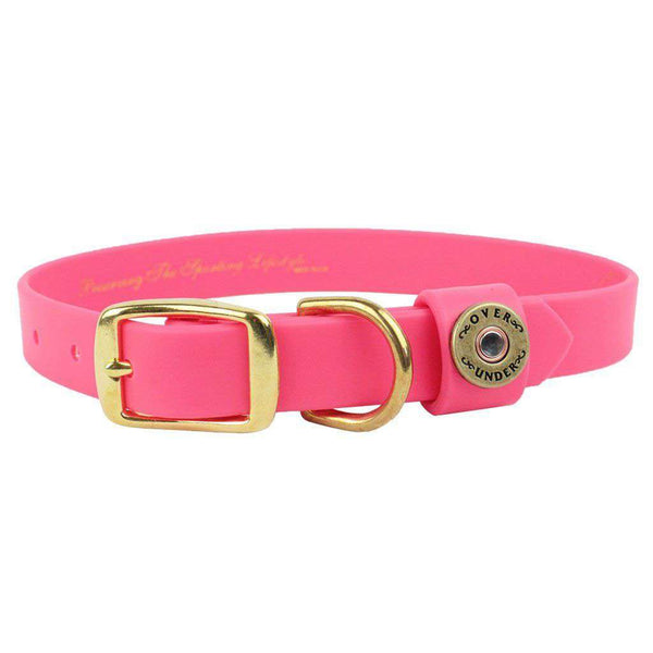 Over Under Clothing The Water Dog DuraHide Collar in Pink