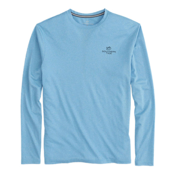 Paddleboard Stack Long Sleeve Heather Performance Tee Shirt by Southern Tide