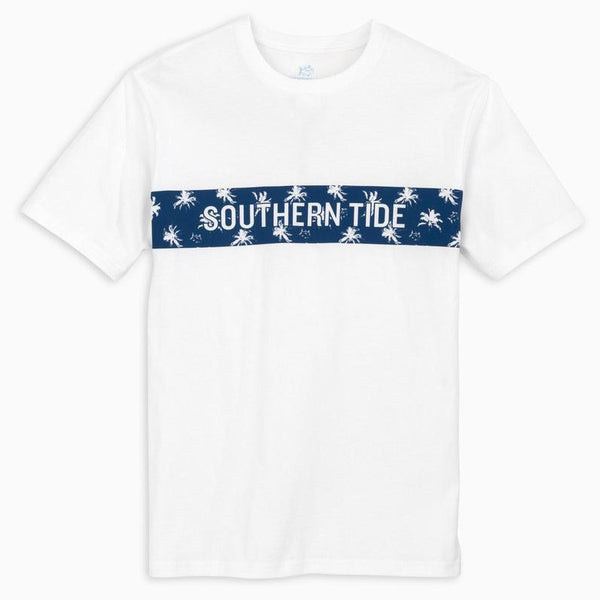 Palmetto Chest Stripe Tee Shirt by Southern Tide