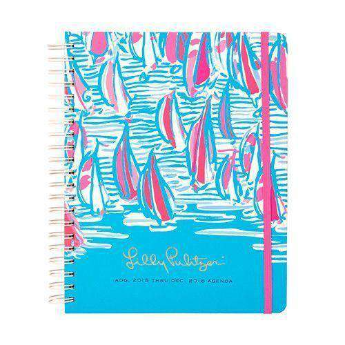 Paper & Stationery - 17 Month Jumbo 2016 Agenda In Red Right Turn By Lilly Pulitzer - FINAL SALE