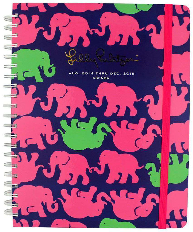 Paper & Stationery - 17 Month Jumbo Agenda In Tusk In Sun By Lilly Pulitzer - FINAL SALE