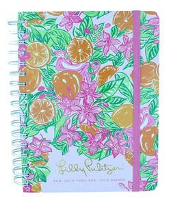 Paper & Stationery - 17 Month Large 2015 Agenda In Orange Grove Monkeys By Lilly Pulitzer - FINAL SALE