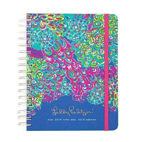 Paper & Stationery - 17 Month Large 2016 Agenda In Lilly's Lagoon By Lilly Pulitzer - FINAL SALE
