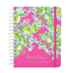 Paper & Stationery - 17 Month Large 2016 Agenda In Pink Lemonade By Lilly Pulitzer - FINAL SALE