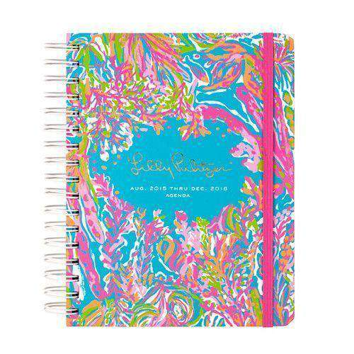 Paper & Stationery - 17 Month Large 2016 Agenda In Scuba De Cuba By Lilly Pulitzer - FINAL SALE