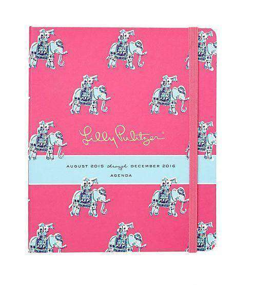 Paper & Stationery - 17 Month Large 2016 Covered Spiral Agenda In Bazaar By Lilly Pulitzer - FINAL SALE