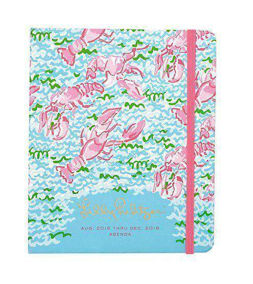 Paper & Stationery - 17 Month Large 2016 Covered Spiral Agenda In Lobstah Roll By Lilly Pulitzer - FINAL SALE