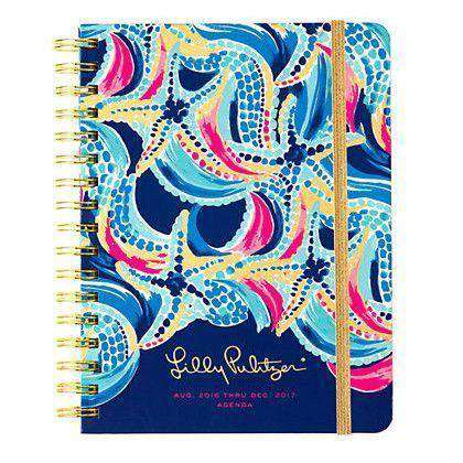 Paper & Stationery - 17 Month Large 2017 Agenda In Ocean Jewels By Lilly Pulitzer - FINAL SALE