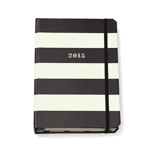 Paper & Stationery - 17 Month Medium Agenda In Black Stripe By Kate Spade New York