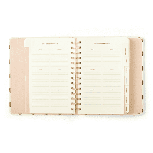 Paper & Stationery - 2016 - 17 Month Medium Agenda In Gold Dots By Kate Spade New York