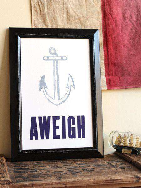 Paper & Stationery - Anchors Aweigh Hand Pressed Print By The Old Try