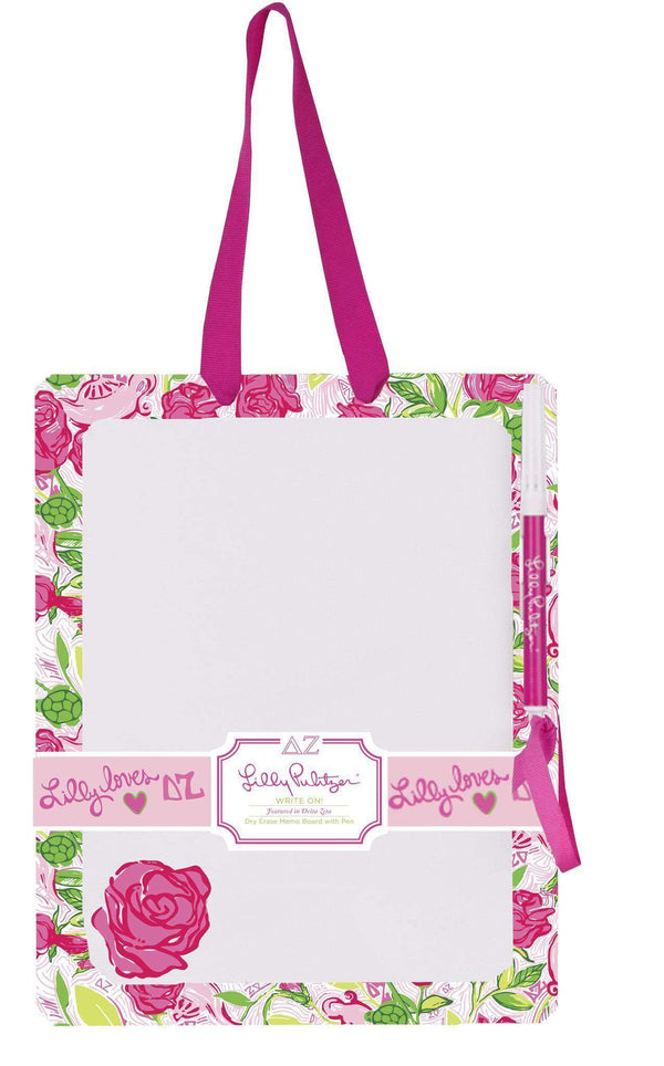 Paper & Stationery - Delta Zeta Dry Erase Board By Lilly Pulitzer