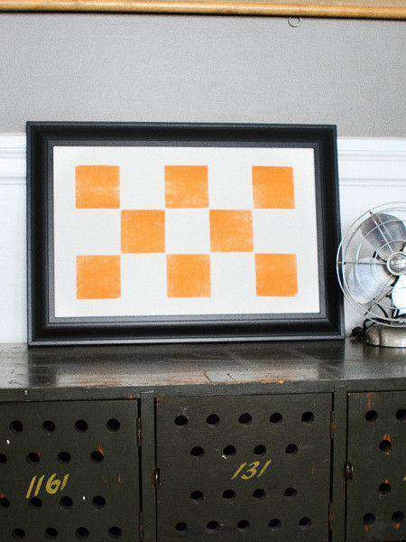 Paper & Stationery - Eight Orange Squares Hand-Pressed Print By The Old Try