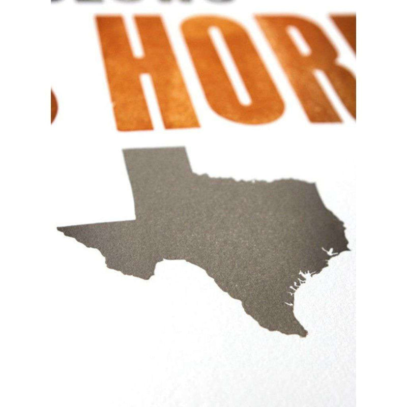 Eyes of Texas Hand-Pressed Print by The Old Try