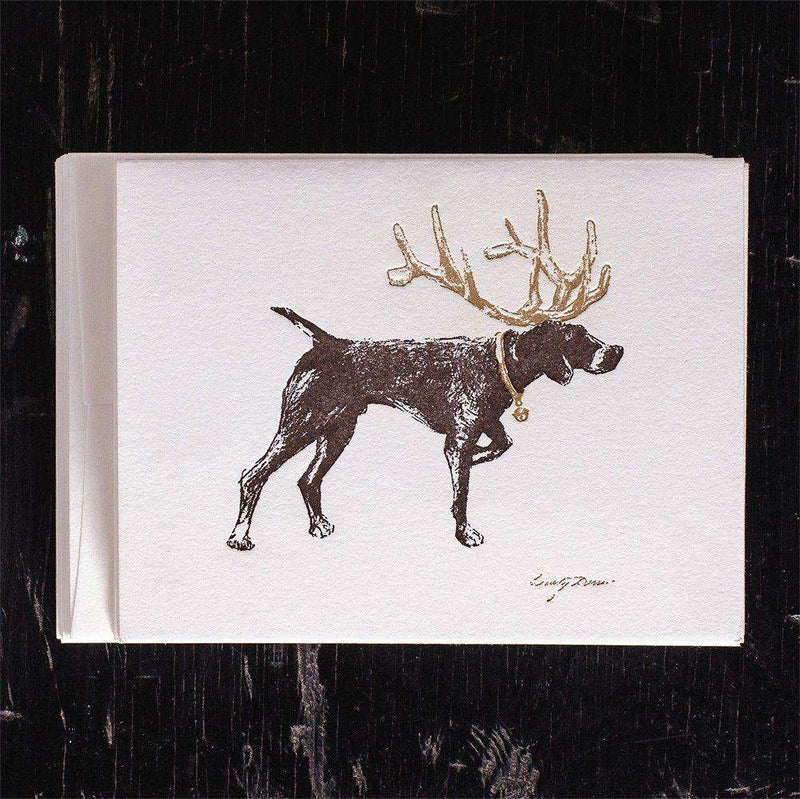 Holiday Pointer Greeting Cards by Ancesserie