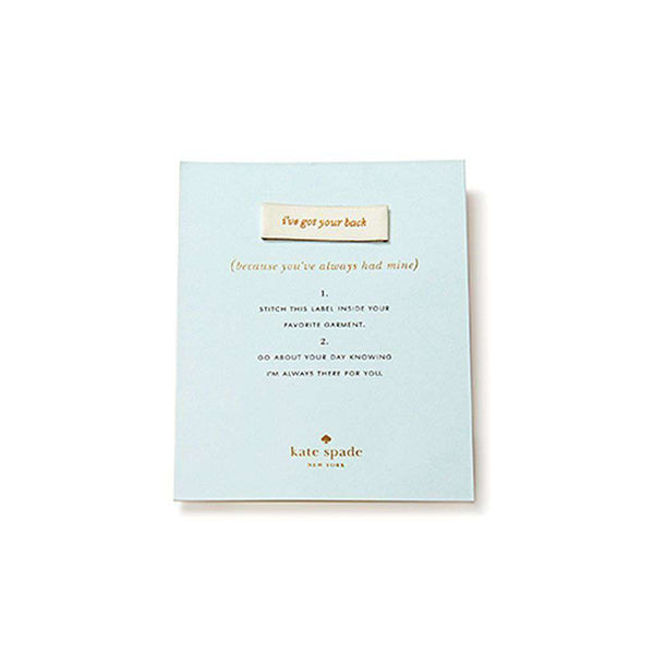 "Paper & Stationery - ""I've Got Your Back"" Sew In Label By Kate Spade New York"