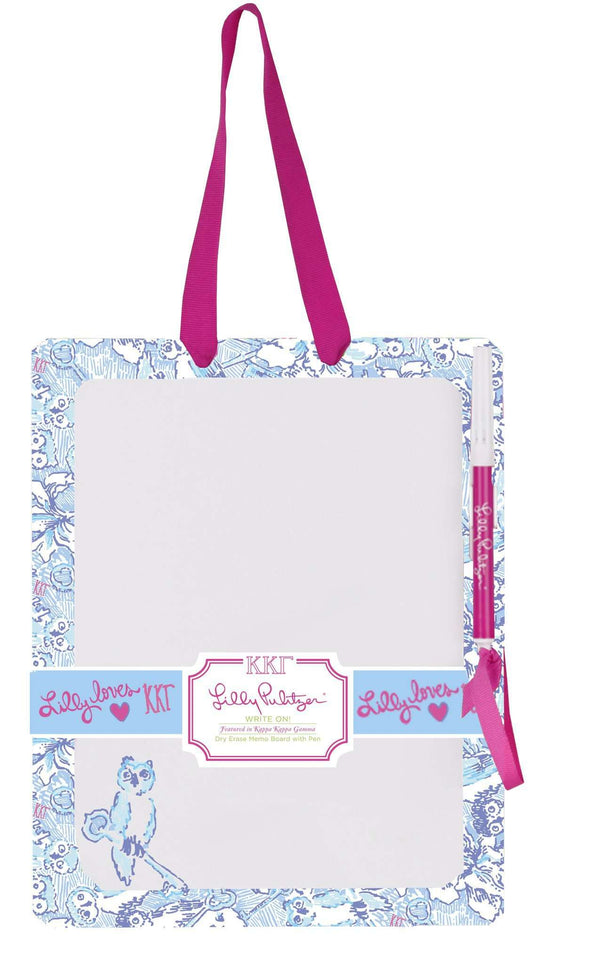 Paper & Stationery - Kappa Kappa Gamma Dry Erase Board By Lilly Pulitzer