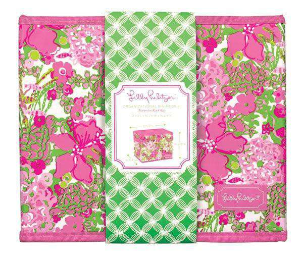 Paper & Stationery - Medium Fabric Storage Box In Beach Rose By Lilly Pulitzer