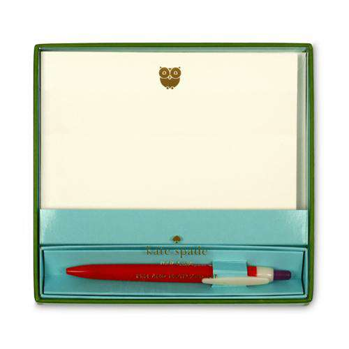 Paper & Stationery - Pen And Notecard Set In Red By Kate Spade New York