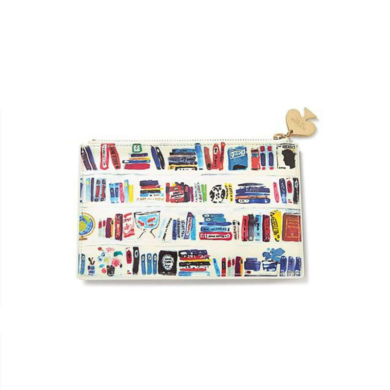 Paper & Stationery - Pencil Pouch In Bella Bookshelf By Kate Spade New York