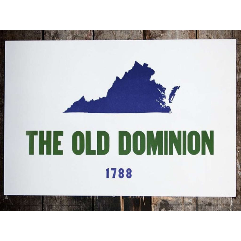 The Old Dominion Hand-Pressed Print by The Old Try