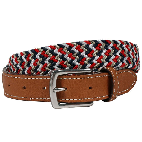 Patriotic Cooper Elastic Braid Belt by Country Club Prep