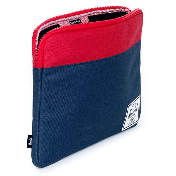 "13"" Macbook Anchor Sleeve in Navy and Red by Herschel Supply Co."