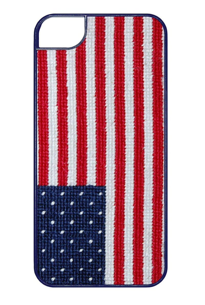 Phone/Computer - American Flag Needlepoint IPhone 6 Case By Smathers & Branson