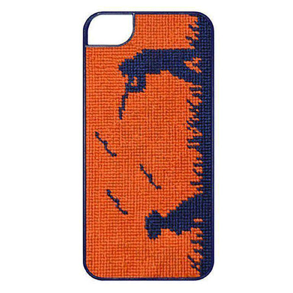 Bird Hunter Needlepoint iPhone 6 Case in Orange by Smathers & Branson - FINAL SALE
