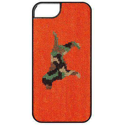 Phone/Computer - Camo Retriever Needlepoint IPhone 6 Case In Orange By Smathers & Branson