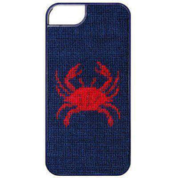 Crab Needlepoint iPhone 6 Case by Smathers & Branson