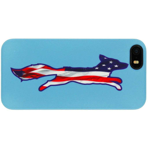 Phone/Computer - IPhone 5/5s Cover In Patriotic Light Blue By Country Club Prep - FINAL SALE